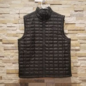 North Face Mens XL Thermoball Puffer Vest Black Nano Puff Micro Bubble Coat